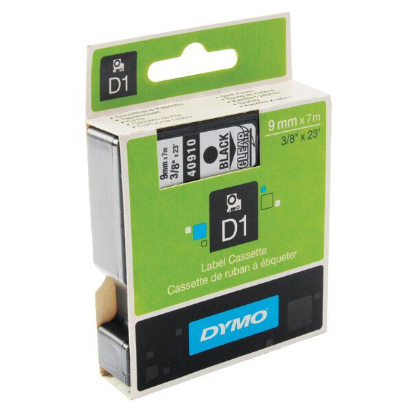 Dymo D1 9mm black on white tape