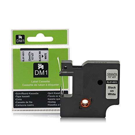Dymo D1 Tape 12mm Black on White
