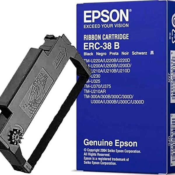Epson ERC-38 black ribbon cartridge