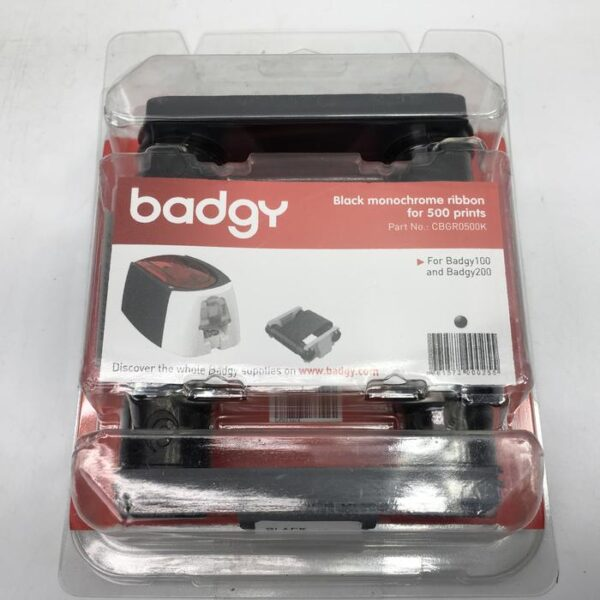 Evolis Badgy black monochrome ribbon