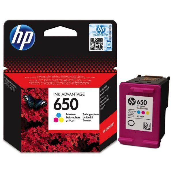 HP 650 Tri-color Ink Advantage Cartridge