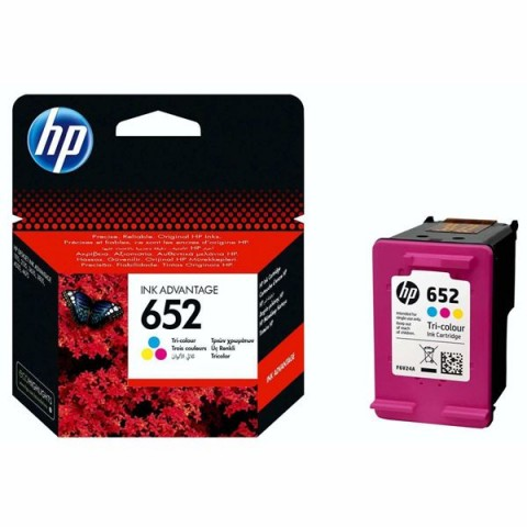 HP 652 Tri-color Ink Advantage Cartridge