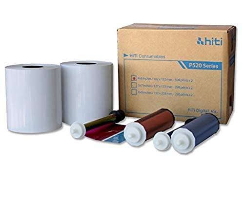 HiTi P520 4x6 Paper Ribbon Media Kit