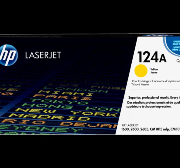 HP 124A Yellow Toner Cartridge